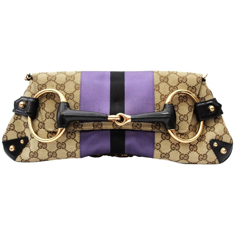ab2077d45c8 Gucci Tom Ford Monogram Horsebit Chain Clutch Bag For Sale at 1stdibs