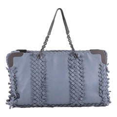 Bottega Veneta Chain Tote Leather with Fringe Intrecciato Detail Large