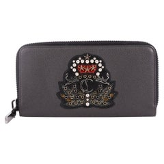 Christian Louboutin Panettone Wallet Embroidered Studded Leather