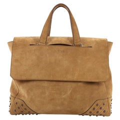 Tod's Envelope Convertible Tote Suede Medium
