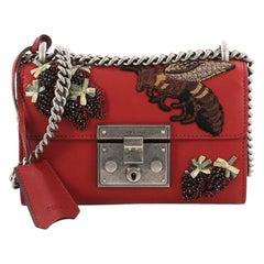 Gucci Padlock Shoulder Bag Embellished Leather Small