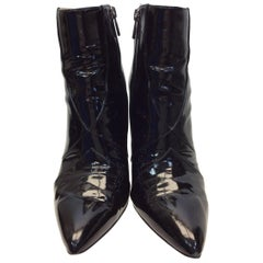 Sigerson Morrison Patent Leather Black Ankle Boot