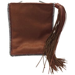Stella McCartney Brown Falabella Fringe Tassel Crossbody