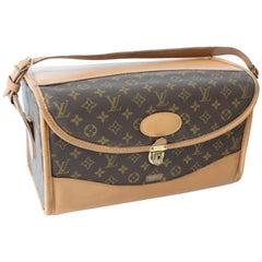 Louis Vuitton Monogram Train Case Vanity Travel Bag Saks French Co Carry On 70s