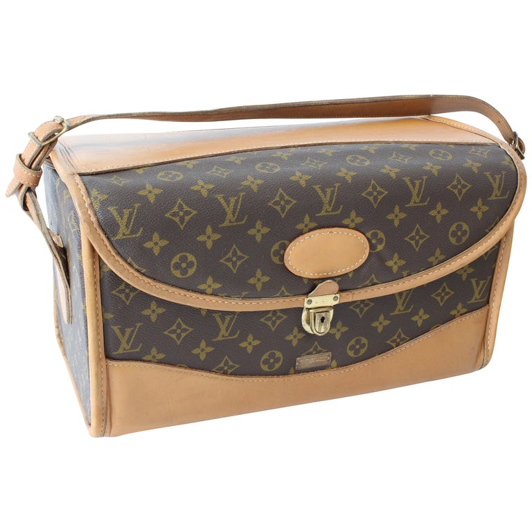 8b7c069b4d4b Louis Vuitton Monogram Train Case Vanity Travel Bag Saks French Co Carry On  70s