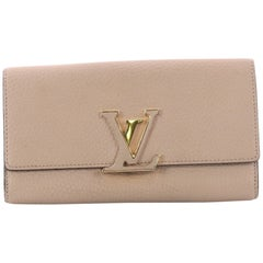 Louis Vuitton Capucines Wallet Leather