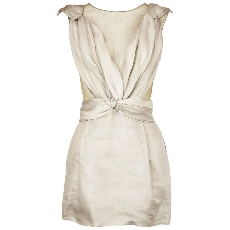 Dolce & Gabbana Gray Draped Mini Dress - Size IT 38