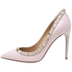 Valentino Rock Stud Light Pink Pumps - Size 36 1/2