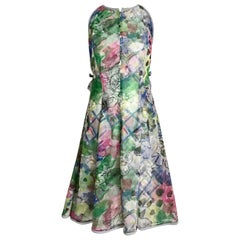 Geoffrey Beene Vintage Multi color Cocktail Dress with Jacket
