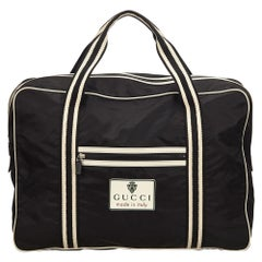 Gucci Black x White Nylon Travel Bag