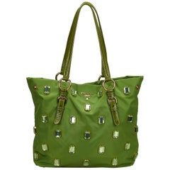 Prada Green x Multi Jewel-Embellished Tote