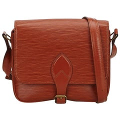 Louis Vuitton Brown Epi Cartouchiere MM