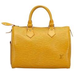 Louis Vuitton Yellow Epi Speedy 25