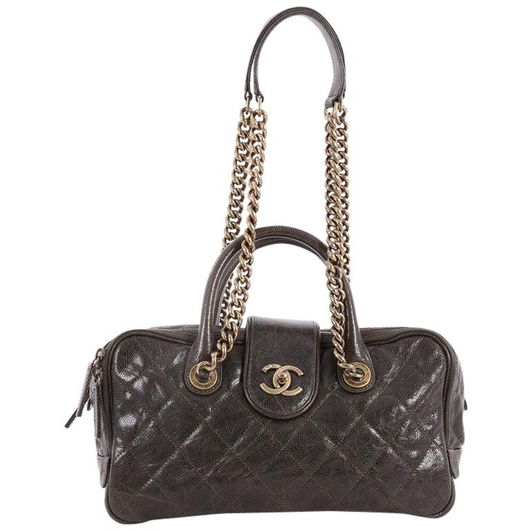 d41b9e771f6a53 Chanel Shiva Bowler Bag Quilted Caviar at 1stdibs