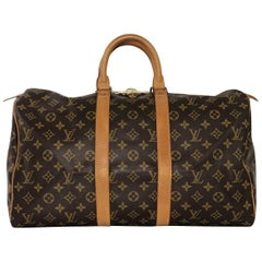 Louis Vuitton Monogram Keepall 45 Travel Handbag