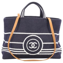 Chanel CC Shopping Tote Denim Large
