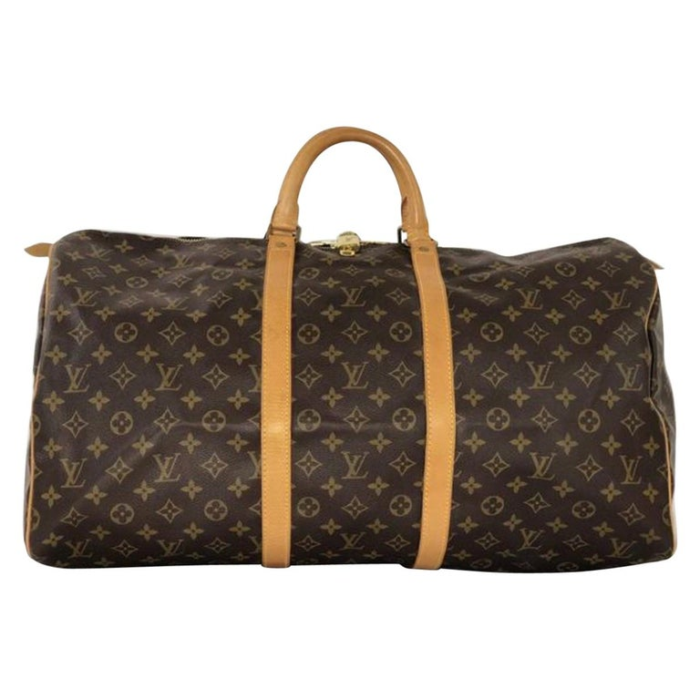 Louis Vuitton Monogram Keepall 55 Travel Handbag