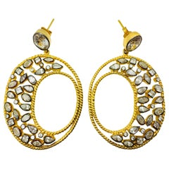Meghna Jewels Diva Hoop Earrings