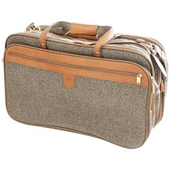 Hartmann Soft Side Suitcase & Shoulder Strap Tweed Leather Expandable Weekender