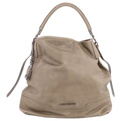 Burberry Chain Detail Hobo Leather Large