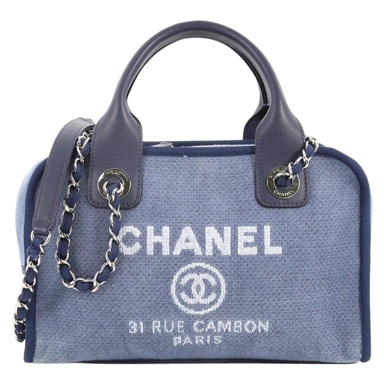 dc2b5978d05b Chanel Deauville Bowling Bag Canvas Small at 1stdibs