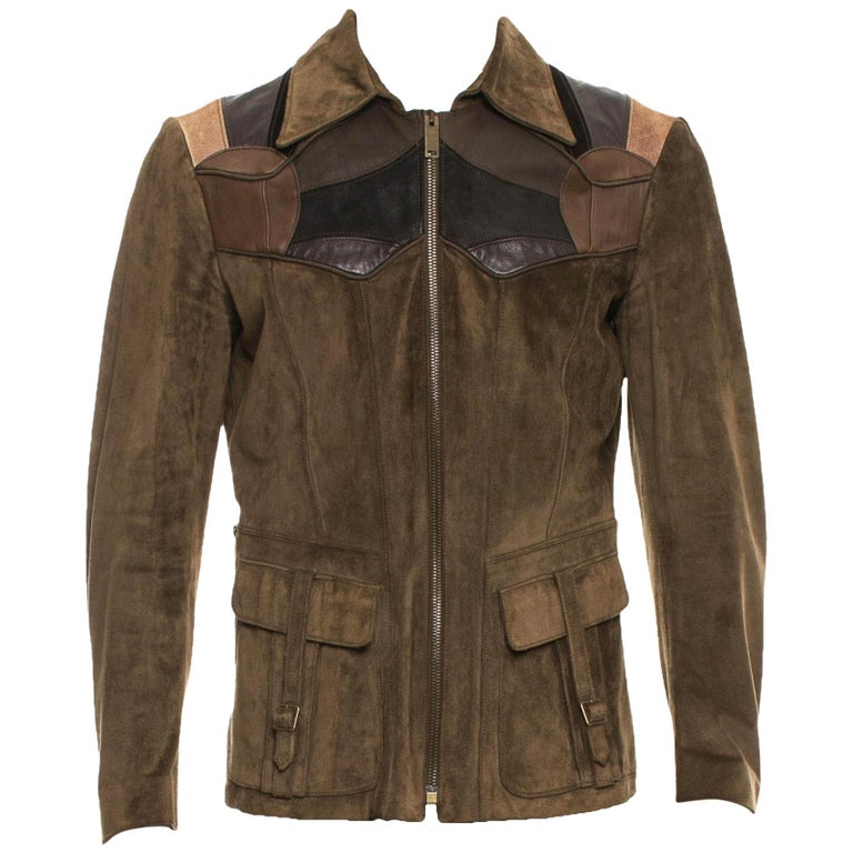 574599a7c Tom Ford for Gucci Men's Runway Leather Western Jacket, S / S 2004 For Sale