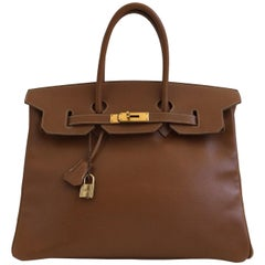 Hermes Birkin Bag in Cigar Epsom Leather 35cm