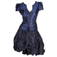 Giorgio Armani 2-pcs Suit Dress & Top - blue