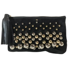 Anya Hindmarch Black Jingle Clutch