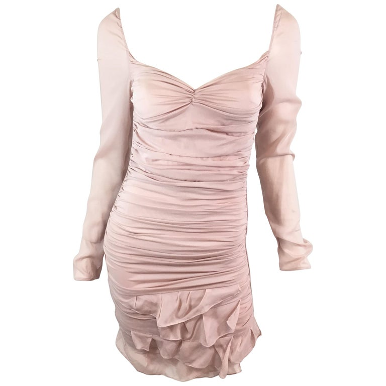 Tom Ford for Gucci Ruched Dress, 2003 Spring Runway For Sale