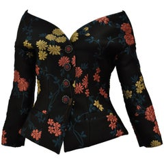 Fabulous ETRO Floral Brocade Off-the-Shoulder Jacket (42 ITL) W/T
