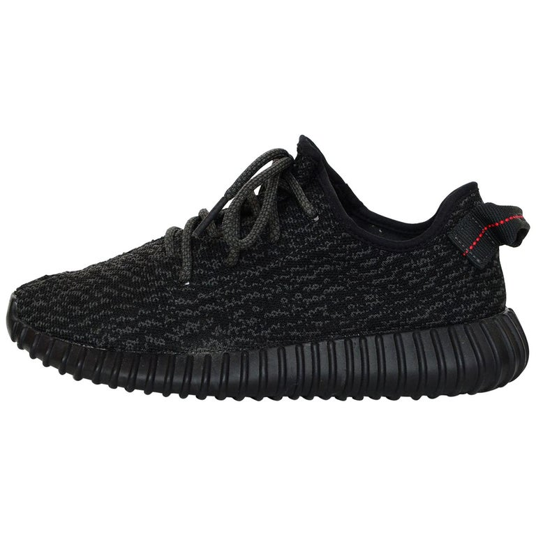 60ab6db19 Adidas x Kanye West Yeezy Boost 350 Pirate Black Sneakers Men s 7 Women s 8  For