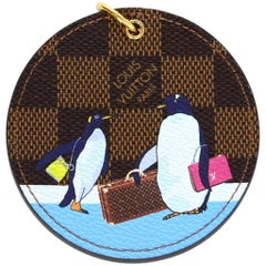 Louis Vuitton '17 Christmas Damier Illustre Manchot Penguins Bag Charm Key Ring