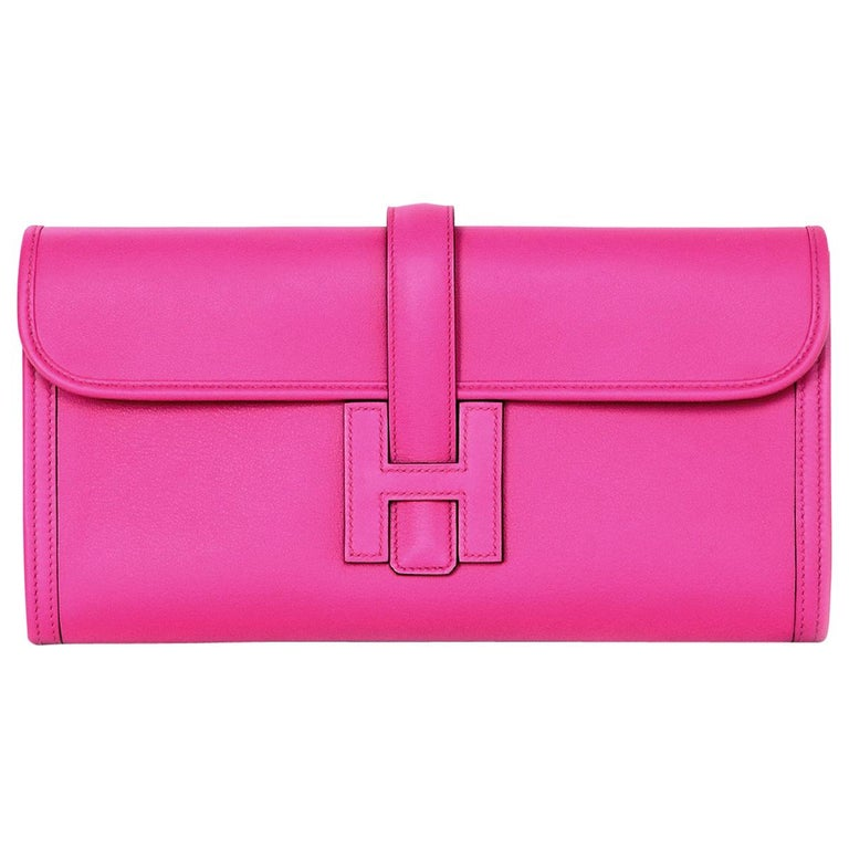 Hermes Magnolia Pink Swift Leather Jige Elan 29 H Clutch Bag, 2018