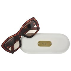 New Chloe Tortoise Retro Sunglasses With Case