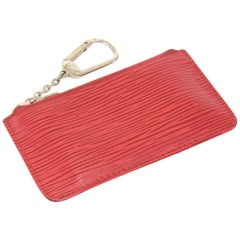 Louis Vuitton Pochette Cles Red Epi Leather Coin Case