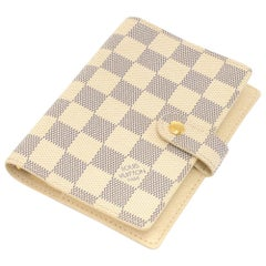 Louis Vuitton Agenda Fonctionnel PM Damier Azur Canvas Agenda Cover