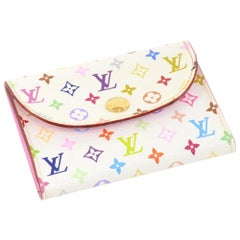 Louis Vuitton White Multicolor Monogram Card Case
