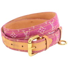 Louis Vuitton Magenta Ceinture Monogram Denim Belt Size 90/36