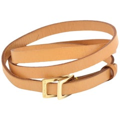 Louis Vuitton Cowhide Leather Thin Adjustable Waist Belt- Size S