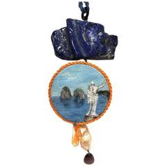 Amlé Capri Handmade Tambourine Necklace