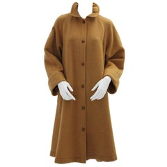 Guy Laroche Diffusion Paris Vintage Wool Coat 1970s