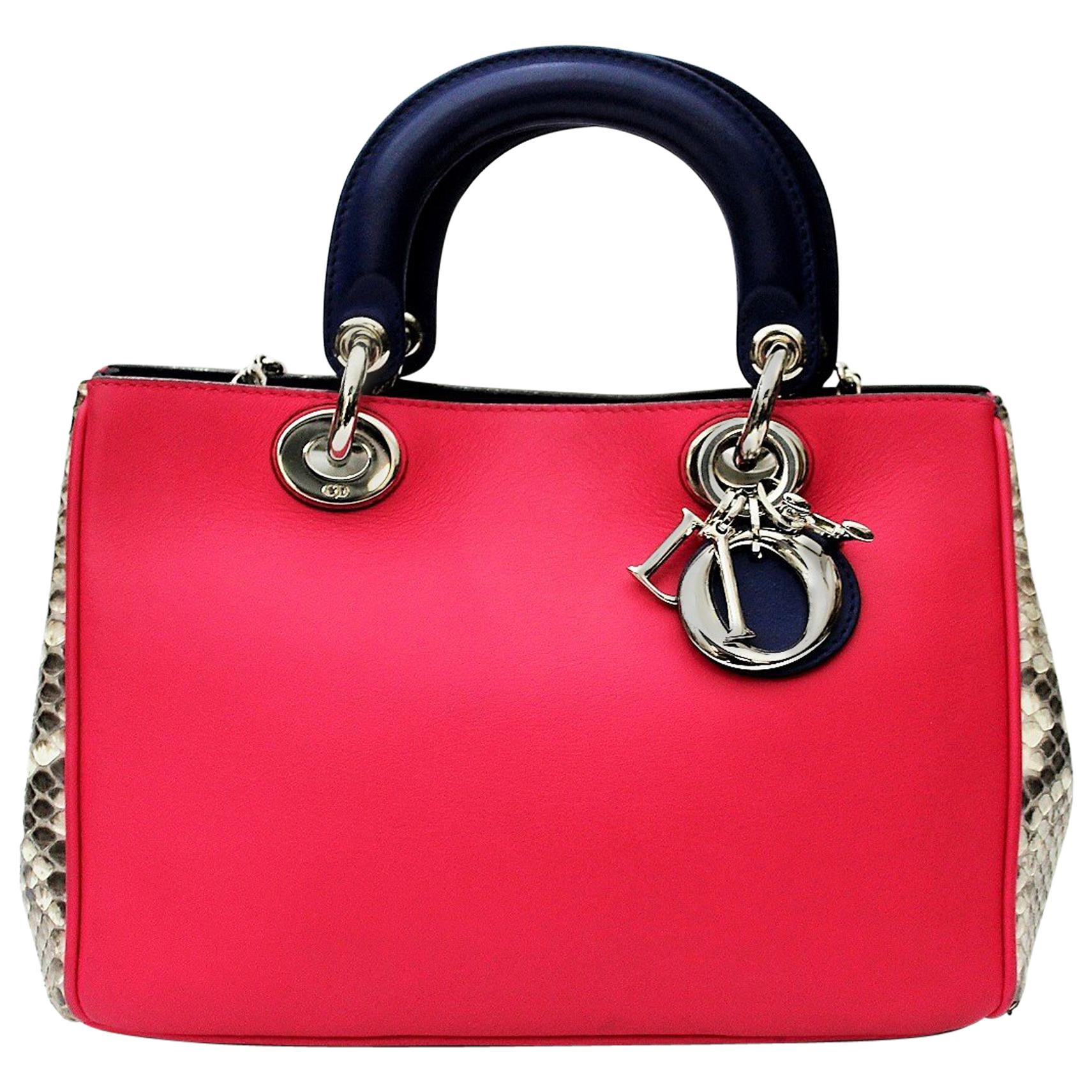 Christian Dior Limited Edition Python Leather Handbag