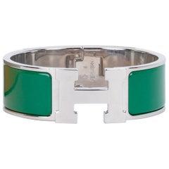 Hermès Clic Clac Vert Sapin H Bracelet