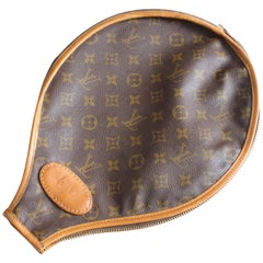 Louis Vuitton Tennis Racquet Cover French Company Monogram Canvas Travel Case