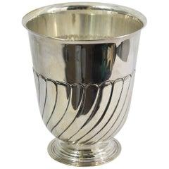Vintage Silver Plated Dior Vase