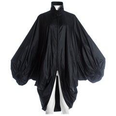 Issey Miyake black nylon oversized parachute jacket, A/W 1987