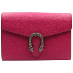 Gucci Dionysus Fuchsia Leather Mini Bag