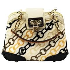 LOUIS VUITTON Limited Edition Charms Velvet Chains Mini Linda Bag