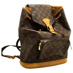 Louis Vuitton Montsouris GM Monogram Backpack Bag Canvas Leather